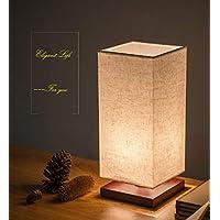 和風スタンド 木製 電灯色 LED電球付き ベッドサイドランプ 間接照明 癒し雰囲気を演出 インテリア照明