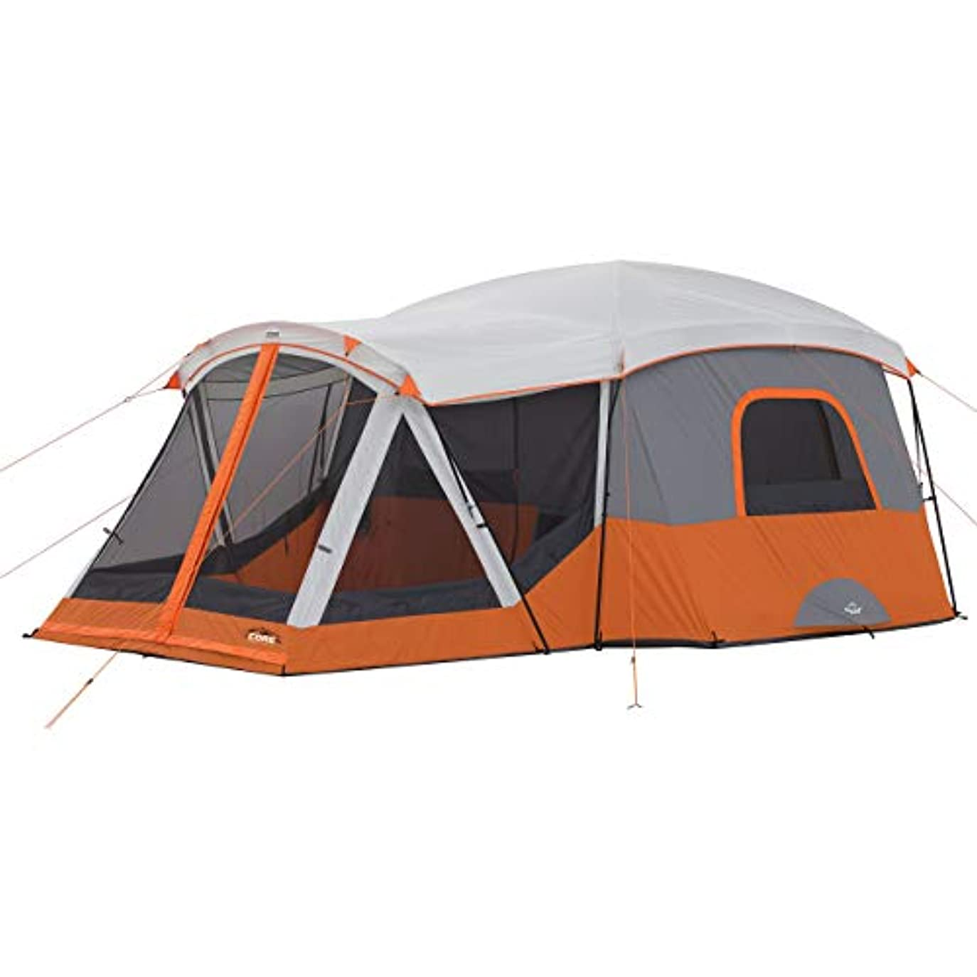 ダイエット証言無実CORE 11 Person Family Cabin Tent with Screen Room (Orange) [並行輸入品]