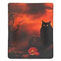 クロス ゲーミング マウスパッド 赤い夜黒い猫