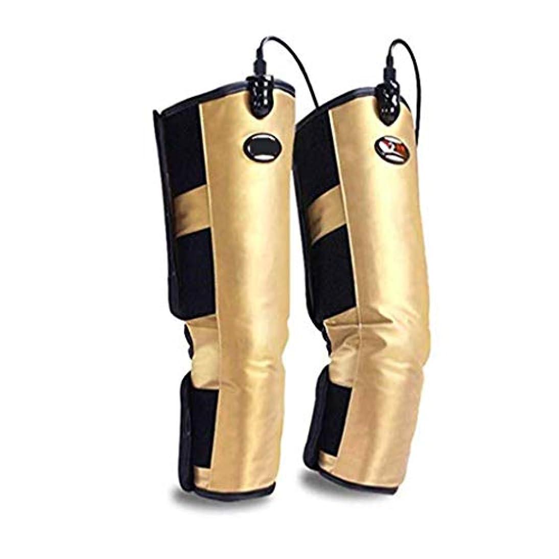 怖いラベル暴行膝レギンス用電気加熱パッド、膝ブレースラップサポート、脚循環用、膝捻挫痙攣関節炎の痛み
