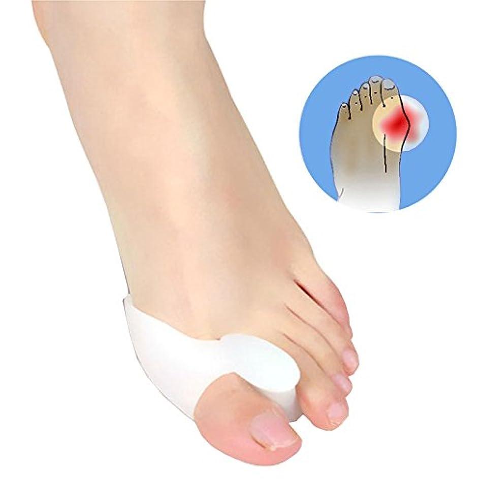 刈る集団的のどJicorzo - 1ペアジェル外反母趾の足セパレータ容易に足の痛み足外反母趾ガードクッション足スプレッダーフットケアツール滑らかなシリコーン