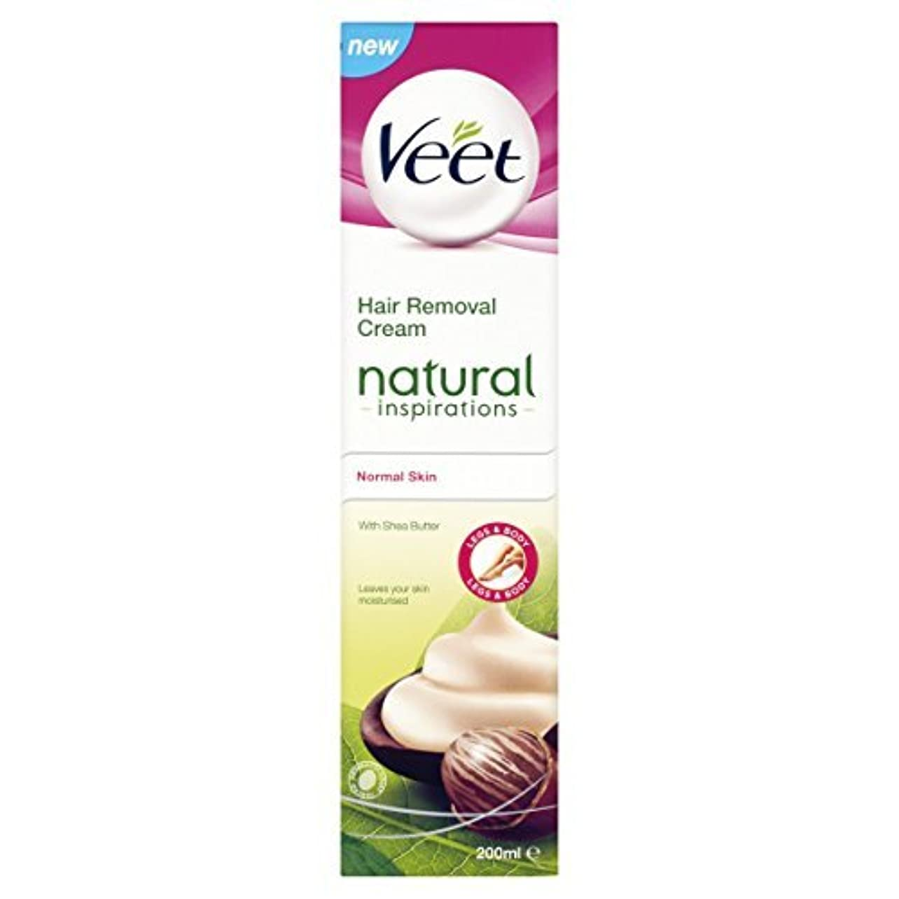 現実には全部謙虚なVeet Naturals Hair Removal Cream for Normal Skin 200ml by Veet