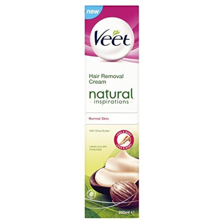 テメリティ悪意のある舗装するVeet Naturals Hair Removal Cream for Normal Skin 200ml by Veet