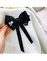 I-Remiel 弓ボウタイリボンの弓のブローチ襟ネクタイアクセサリーロング針ブローチ布アートドレススーツ蝶女性ブローチ パーツ