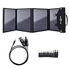 Rockpals ソーラーパネル 60W QC3.0 ソーラーチャージャー ソーラー充電器 変換プラグ10枚搭載 高変換効率 折りたたみ式 スマホ ノートパソコン 充電可能