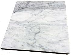 【B級品】イタリアの大理石 40cm×40cm×1.2cm ひんやり気持ちいいペットマット(クールペットベッド)!小さなスリキズ等がある為お買い得です♪ ビアンコカララ 表面磨き仕上げ 角部R加工仕上げ