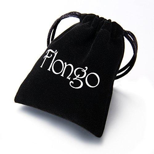 Flongo ノンホールピアス マグネットピアス 穴開け不要 磁力で耳に取付け パンク系 ロック ファション 男女兼用 ボディピアス アクセサリー ブラック ステンレス 10MM