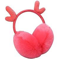 Roloiki Ear Muffs Winter Fall Cute Warm-Keeping Earmuffs Christmas Day Girl Lovely Deerlet Horn Ear Warmers
