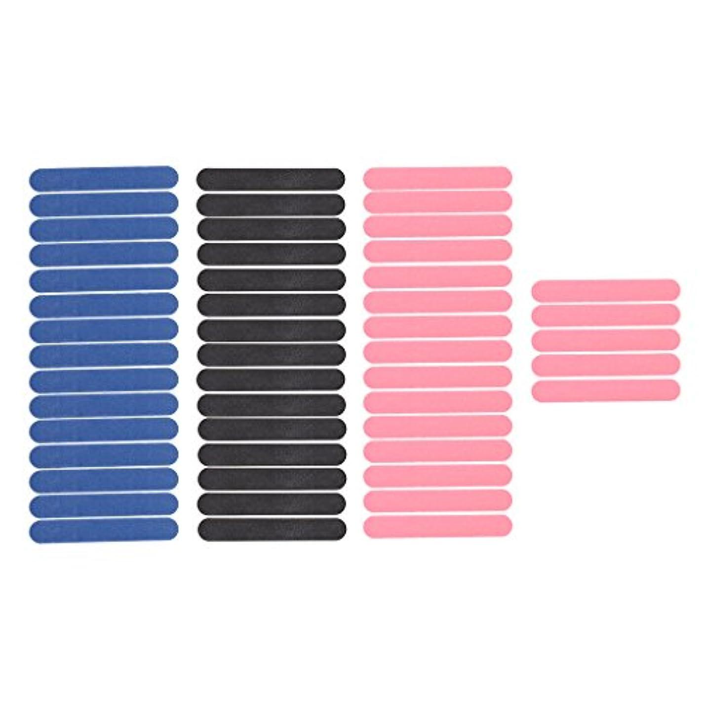 会話流産に対処するInjoyo 50枚パックミニネイルアートサンディングサロンバッファーファイルサンドペーパーUVジェルポリッシャーマニキュアツールブラック/ピンク/ブルー両面
