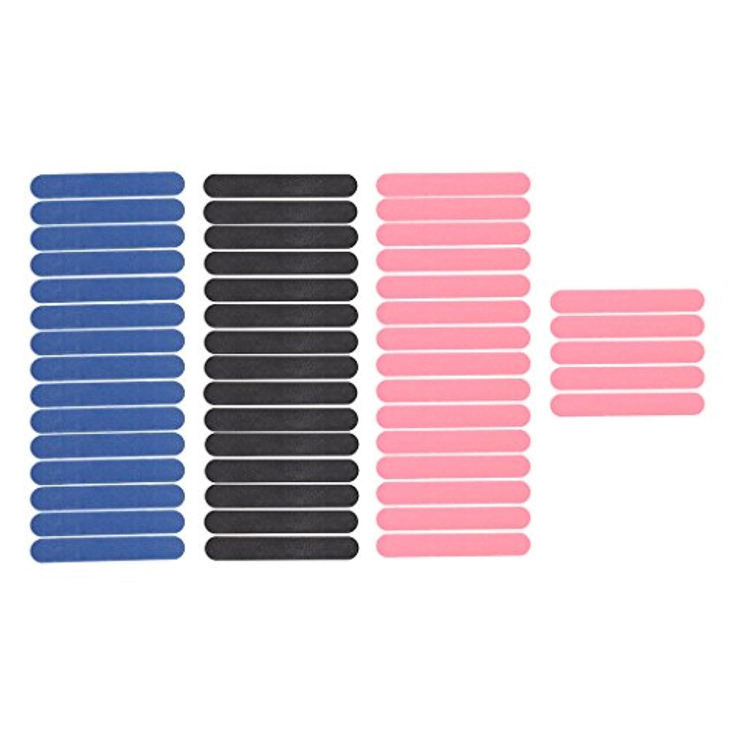 衝突サミュエル省略Injoyo 50枚パックミニネイルアートサンディングサロンバッファーファイルサンドペーパーUVジェルポリッシャーマニキュアツールブラック/ピンク/ブルー両面