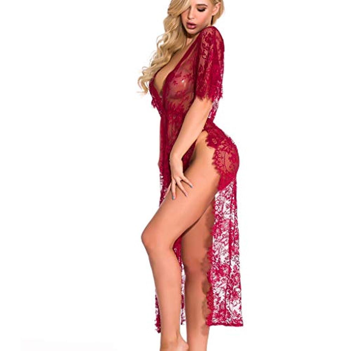 可塑性強制的嫌い女性セクシーなレースのランジェリーセクシー ベビードール ネグリジェ ナイトウェア Tバック付 誘惑 下着 透ける 過激 シースルー ハーフスリップ インナーウェア パジャマ 背中を可愛らしく 無地 寝間着 部屋着 プレゼント