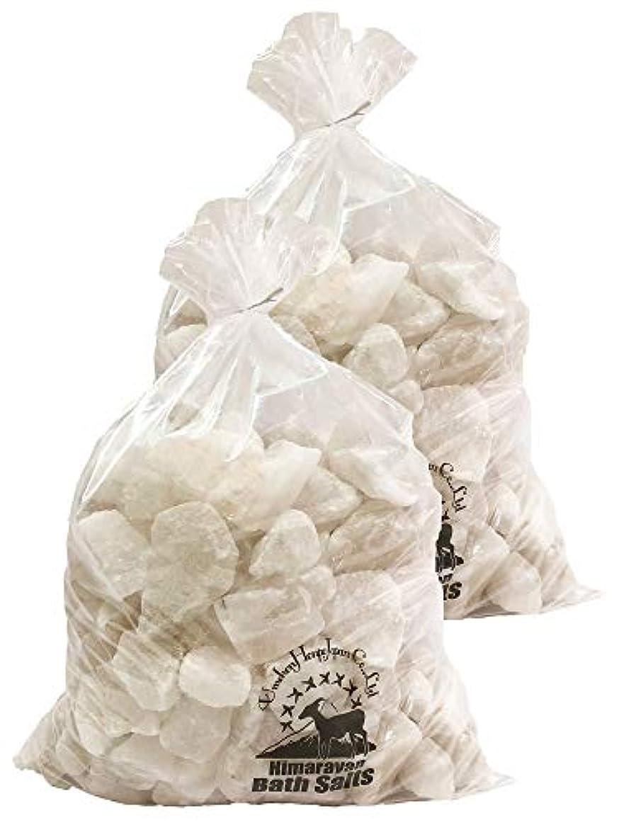 終わらせる自転車引数ヒマラヤ岩塩 バスソルト ホワイト ブロック 20kg
