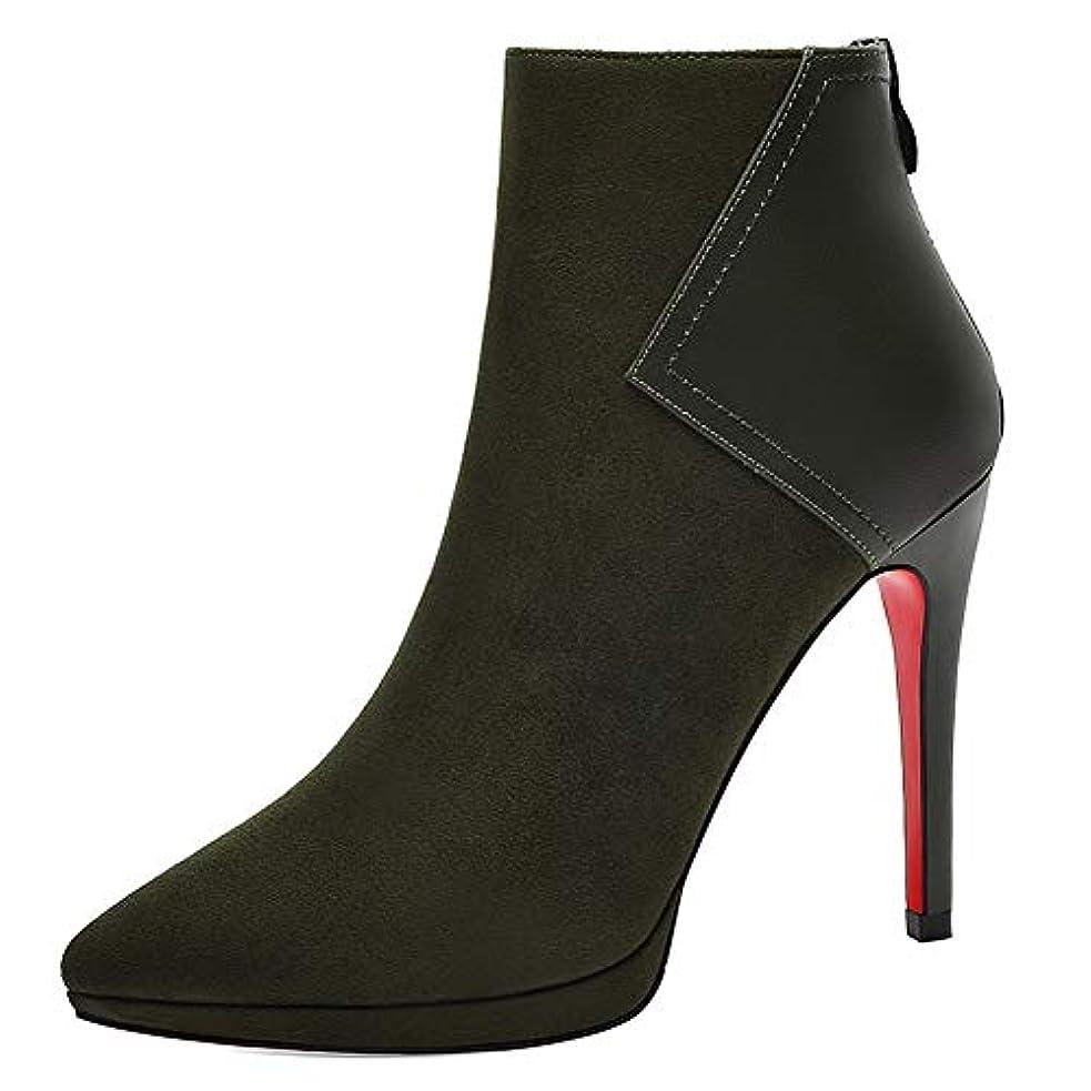 ますます歩行者下に女性のファイングレインアンクルブーツ、秋冬新女性のハイヒールマーティンブーツ厚手の暖かい女性用ブーツ (色 : B, サイズ : 40)