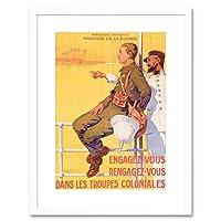 Vintage Advert War Dutriac Engagez Vous Framed Wall Art Print ビンテージ広告戦争壁