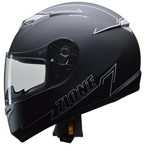 リード工業 (LEAD) バイク用フルフェイスヘルメット ZIONE (ジオーネ) グレー Mサイズ B07D5FVXYS 1枚目
