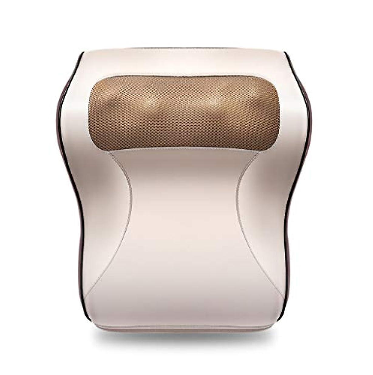 電球レポートを書く呼吸多機能マッサージャー、車/ホームネックショルダーウエストマッサージ枕、オフィスのポータブルマッサージ枕で体の疲れや痛みを和らげる