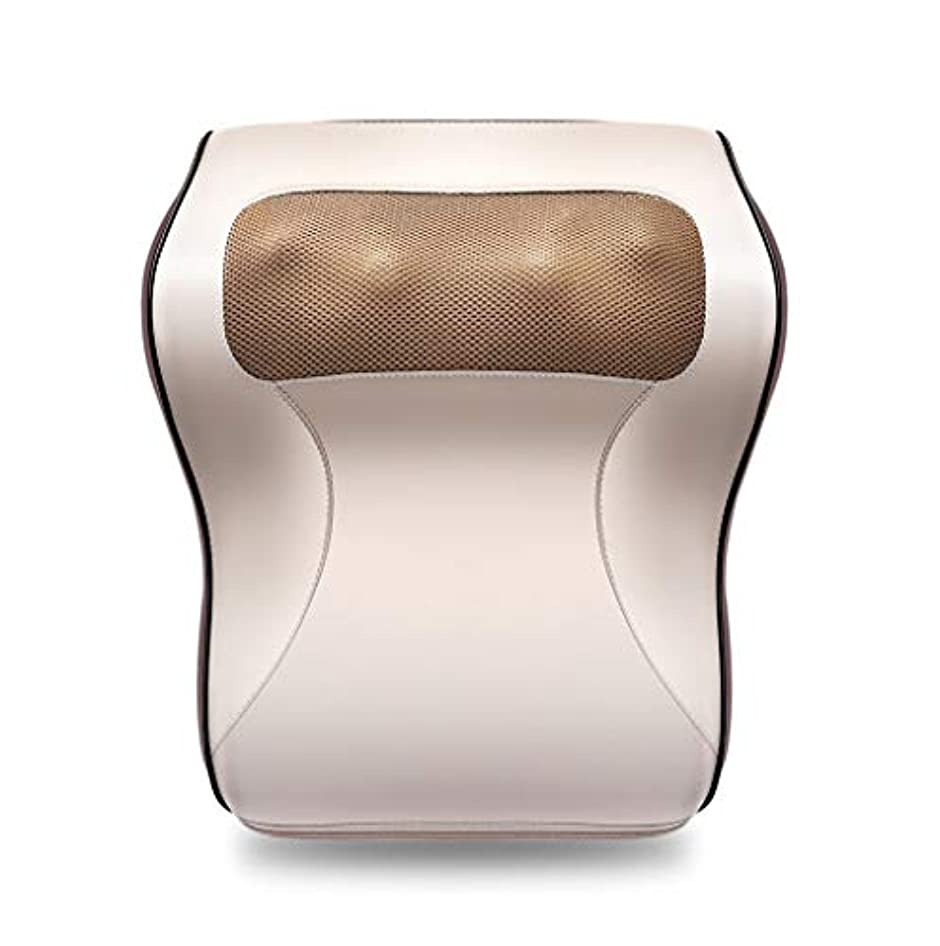 多機能マッサージャー、車/ホームネックショルダーウエストマッサージ枕、オフィスのポータブルマッサージ枕で体の疲れや痛みを和らげる
