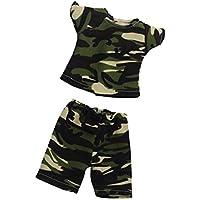 Fenteer 半袖 Tシャツ  & パンツ   スーツ  18インチ アメリカンガールドール適用