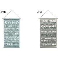 ヴィンテージサインタペストリー【JF58 JF59】□【H1】 カフェ風 タペストリー 男前インテリア (HOUSE RULES(JF59))