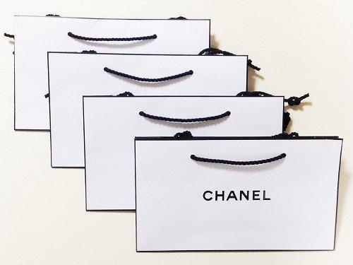シャネル 【CHANEL】 ショッパー 紙袋 中サイズ【定形外郵便発送商品】