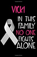 VICKI In This Family No One Fights Alone: Personalized Name Notebook/Journal Gift For Women Fighting Lung Cancer. Cancer Survivor / Fighter Gift for the Warrior in your life | Writing Poetry, Diary, Gratitude, Daily or Dream Journal.