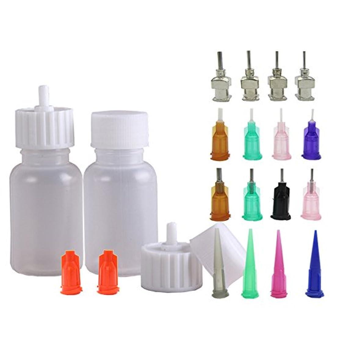着替える毒フリルヘナタトゥー用ヘナコーン 保存用のアプリケーターボトル 多目的精密アプリケーター液体容器容器 ドロッパーボトル ニードルチップと蓋つ付き