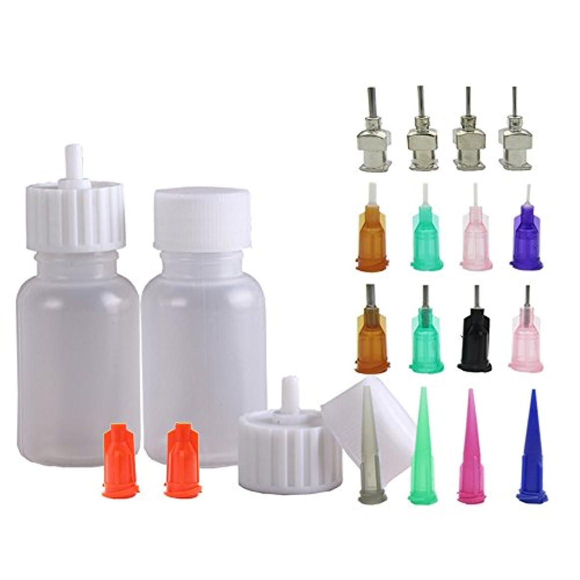 段階ご注意毒液ヘナタトゥー用ヘナコーン 保存用のアプリケーターボトル 多目的精密アプリケーター液体容器容器 ドロッパーボトル ニードルチップと蓋つ付き