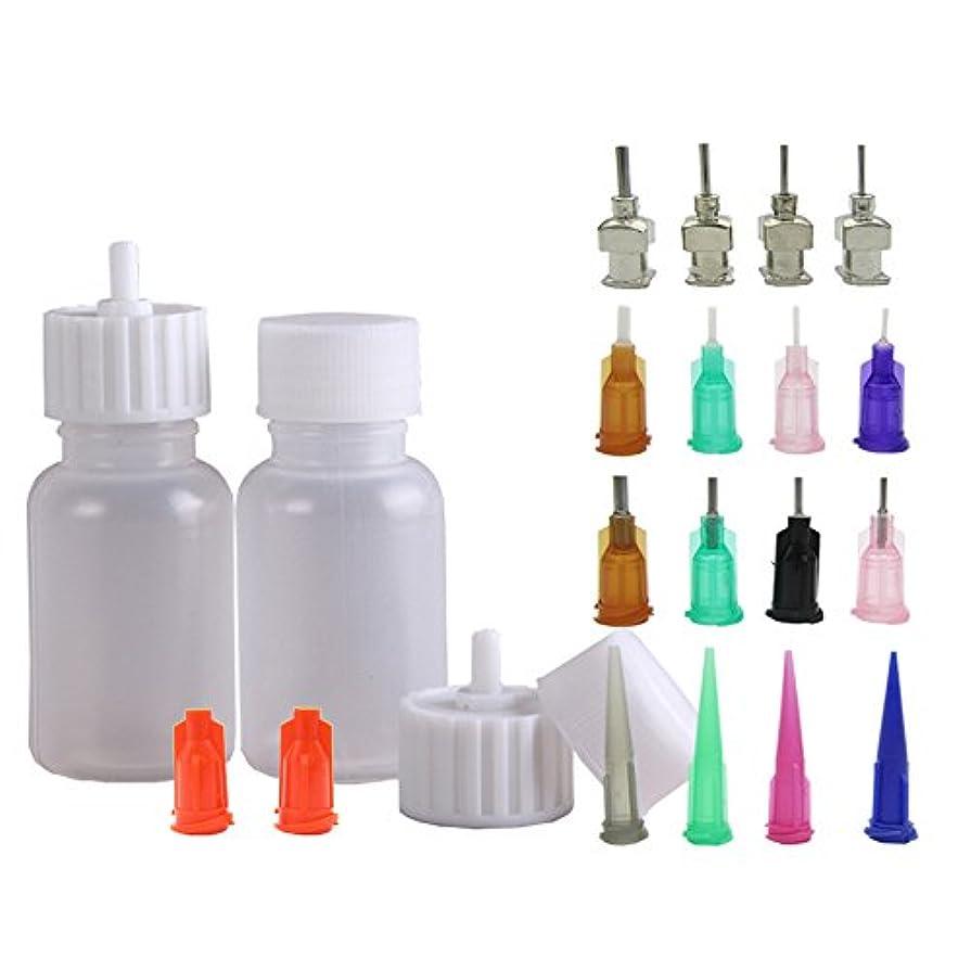 花瓶バース防ぐヘナタトゥー用ヘナコーン 保存用のアプリケーターボトル 多目的精密アプリケーター液体容器容器 ドロッパーボトル ニードルチップと蓋つ付き