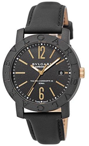 [ブルガリ]BVLGARI 腕時計 カーボンゴールド ブラッ...