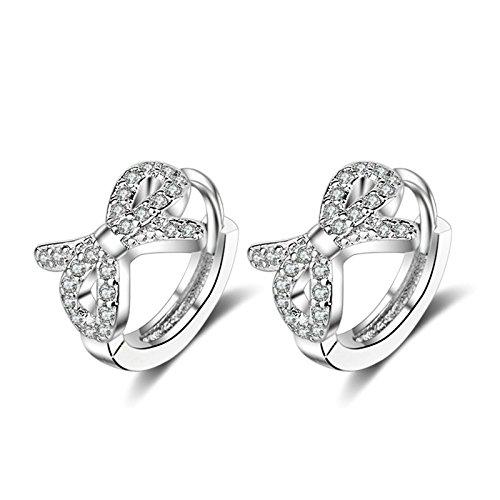[해외]Aooaz 보석 2PCS 실버 보 귀걸이 여성이야 카후 가짜 귀걸이 가짜 구멍 귀걸이 귀 클립/Aooaz Jewelry 2Pcs Silver Bow Earrings Women`s Ear Cuffs Fake Earrings Fake Hole Piercing Ear Clip