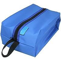 ultrazhyyne – マルチカラーポータブル防水靴バッグ多機能トラベルトートストレージケースストレージポーチジッパー化粧品メイクアップ ブルー U-32716492611-VVV-Bag-Blue