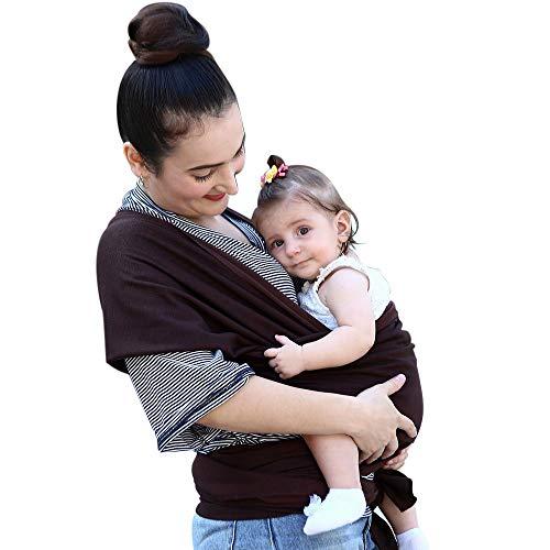 抱っこひも ベビースリング 幼児 新生児 赤ちゃん抱っこひも 授乳に便利 初めての母親のプレゼント 出産祝い 軽量 通気性いい 柔軟 肌触りいい 使いやすい 安全 持ち運び便利お出かけ ベビーラップ 女の子 男の子 (コーヒー)