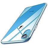 【Humixx】iPhone XR ケース 透明ケース 背面ガラスケース アイホンXRケース ストラップホール付き レンズ保護 滑り止め[Crystal Series](6.1