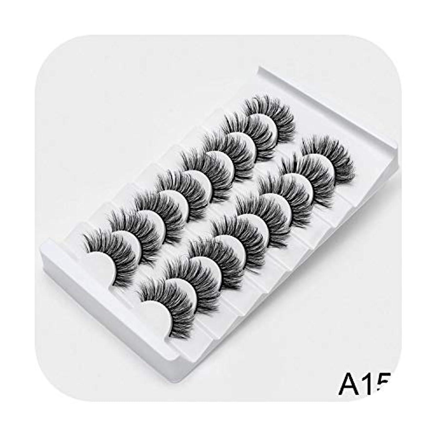 コピー遺産家族AKIROK 4/8ペア3Dミンクラッシュナチュラルつけまつげメイクアップアイラッシュエクステンションシルクアイラッシュ,A15,China