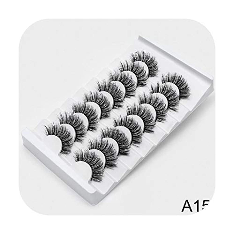 アーティキュレーション浸食慢性的AKIROK 4/8ペア3Dミンクラッシュナチュラルつけまつげメイクアップアイラッシュエクステンションシルクアイラッシュ,A15,China