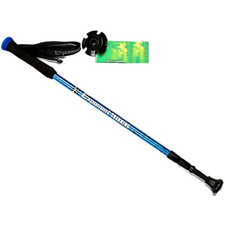 マーケティング肝裏切るトレッキングポール、多機能ダンピングステッキ軽量テレスコピック外部ロックハイキングスティックアルミ合金トレイル杖用男性女性,blue
