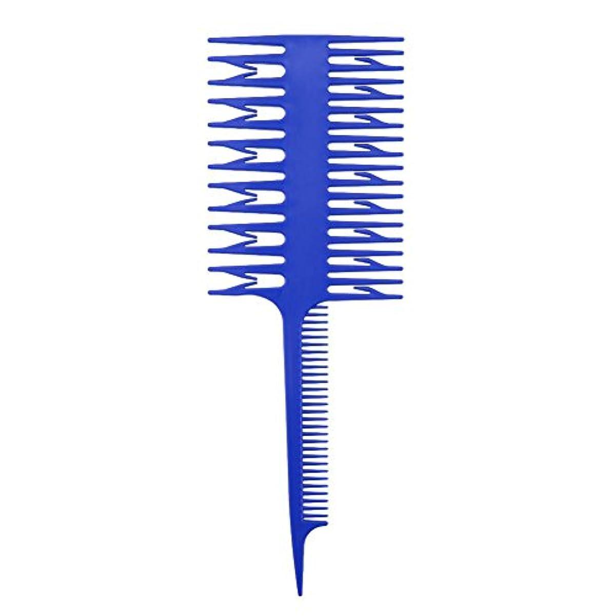 アクション抜け目のない教えDemiawaking 毛染用櫛 ブラシ 白髪染め ブラシ 長髪 短髪 適用 自用毛染めツール 美容室用 プロ 青い