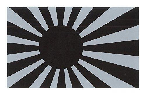 向島自動車用品製作所 日本 旭 日章旗 ステッカー モノトーン 日本製 縦5.0×横8.0cm MY...