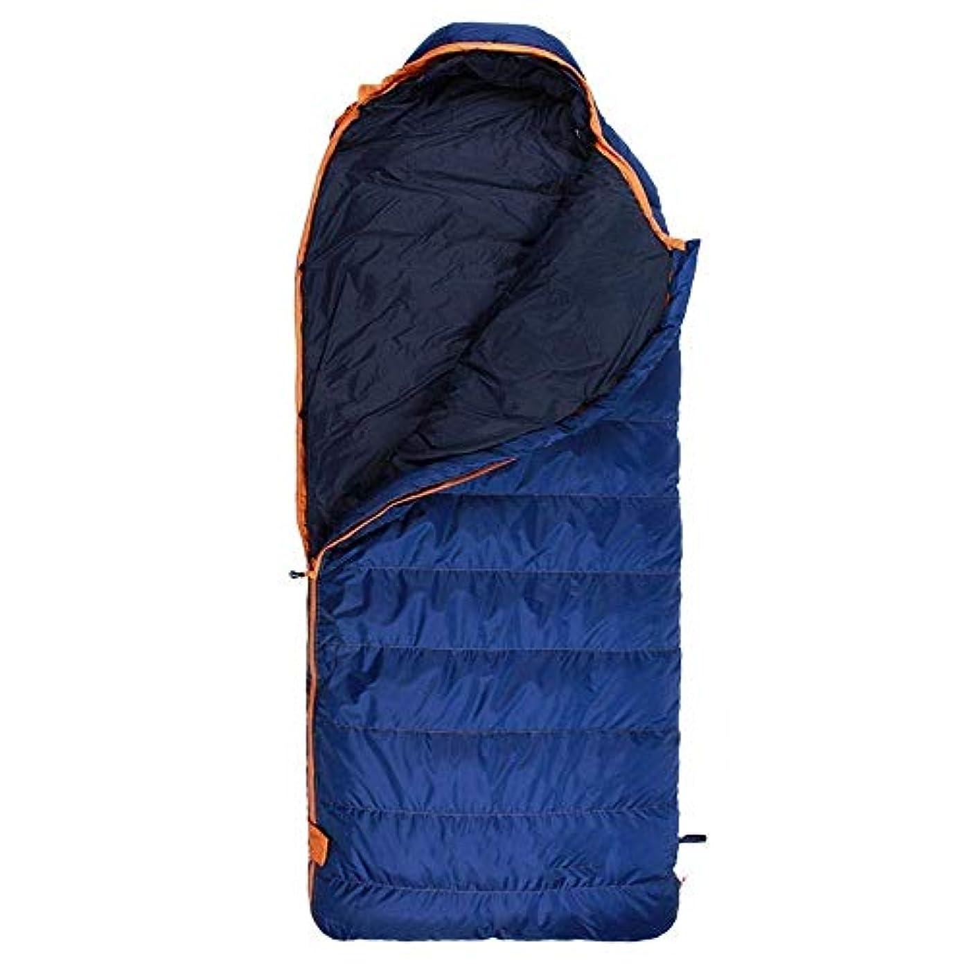 出席衣類金額寝袋超軽量キャンプ寝袋暖かくて軽量シングル3-4シーズン用大人ハイキングバックパックアウトドアアクティビティブルー(サイズ:400g)