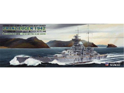 ピットロード 1/700 ドイツ海軍 アドミラル・ヒッパー級 重巡洋艦 プリンツ・オイゲン 1942 エッチングパーツ付 W126E