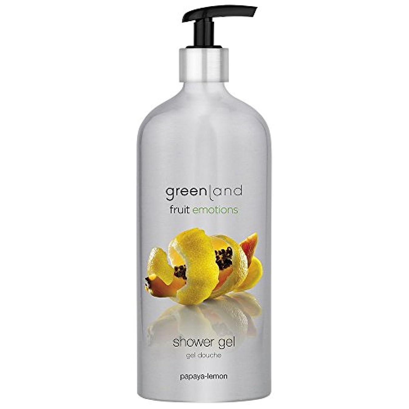 予報みすぼらしい花輪greenland [FruitEmotions] シャワージェル 600ml パパイア&レモン FE0221