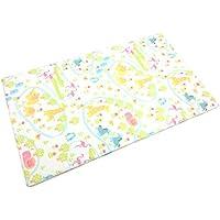 西川 リビング 日本製 ベビー敷布団 70×120×5cm 固綿 二つ折れタイプ ズー柄