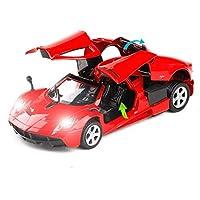 シミュレーション車のおもちゃ、1:32プロポーショナルアロイ車モデル、シミュレーション効果音おもちゃモデル装飾 JWWOZ (Color : Red)
