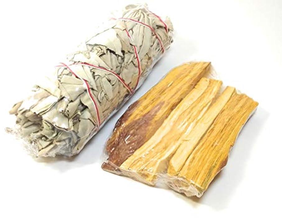 発信ブランクペインティングペルーのPalo Santo(40-45 g)+ California White Sage Incense 5