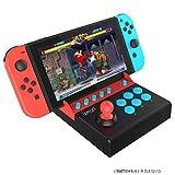 TUTUO Nintendo Switch専用 アーケードコントローラー リアルアーケードスティック ミニ 格闘ゲーム TURBO機能付 Mario/Street Fighter2 対応 ゲーム機