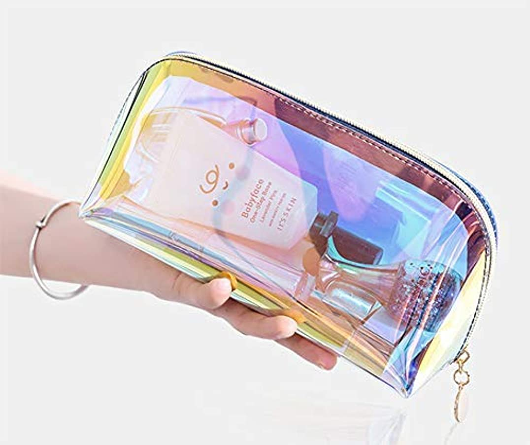 クリーククリーク段階Ranoki メイク 収納 メイクブラシポーチ化粧品 収納防水透明メッシュ温泉、ビーチサイド旅行、出張