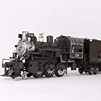 DUOLUO レトロな蒸気機関車モデル手作り錬鉄製のリビングルームの装飾デスクトップ装飾写真小道具ギフト (Size : 63*14*15.5cm)