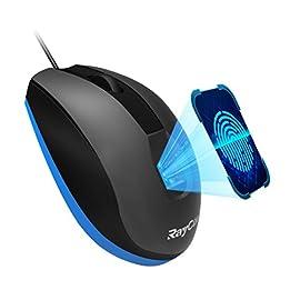 RayCue 有線 マウス 指紋 認証 マウス フォルダ ファイル ウェブサイト を暗号化可能 Windows Hello 対応 3ボタン RM-V5 【日本語ユーザーマニ  ュアル付き&一年間保証&正規品】(ブラック)