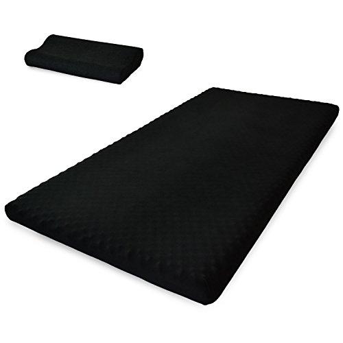 DORIS 高反発 マットレス ダブル 枕付き 極厚10cm ブラック 高反発マットレス