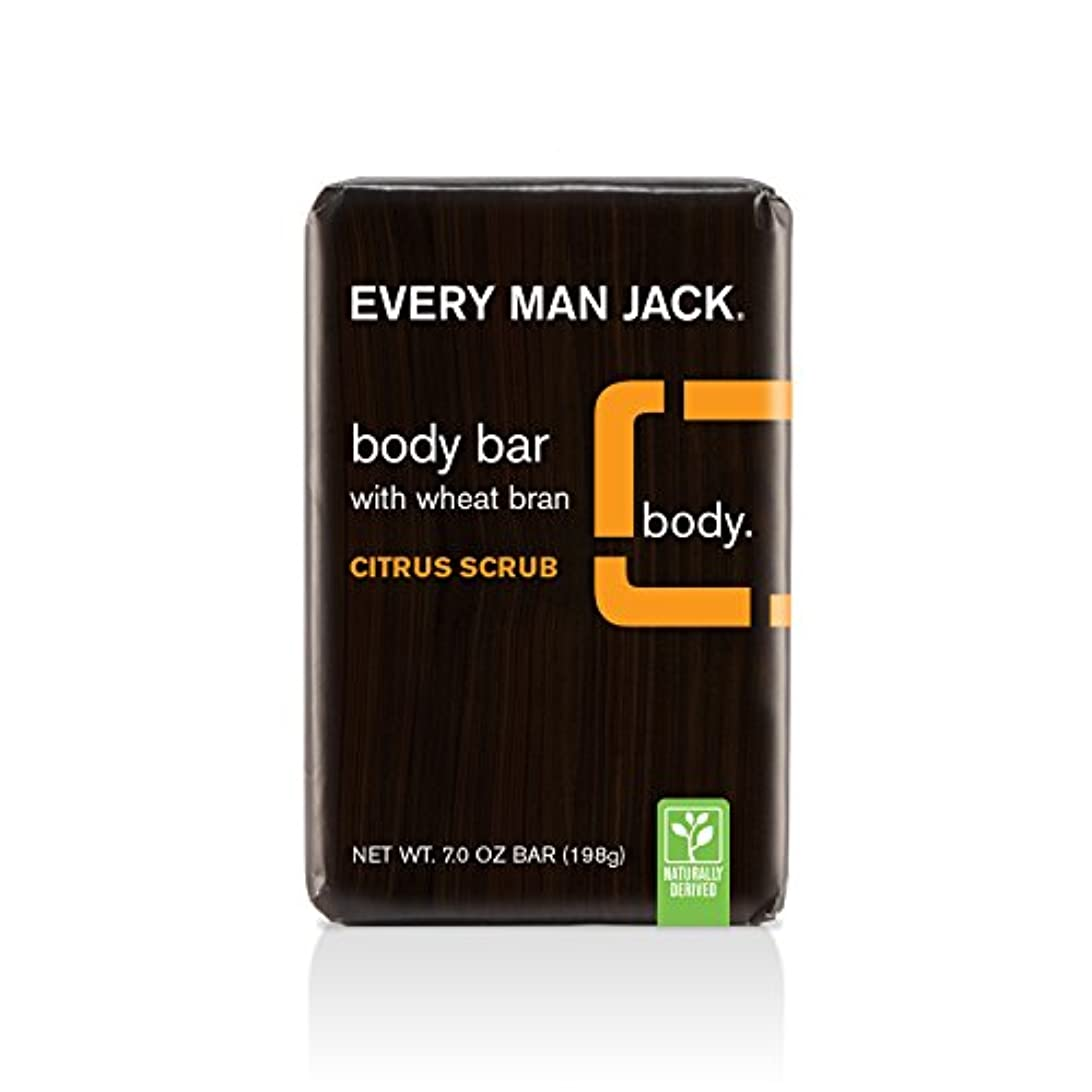 触覚強盗限り海外直送品Body Bar Soap, Citrus Scrub 7 oz by Every Man Jack